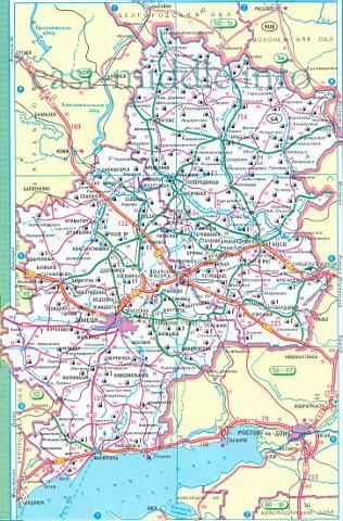 Азовского моря карта дорог северного