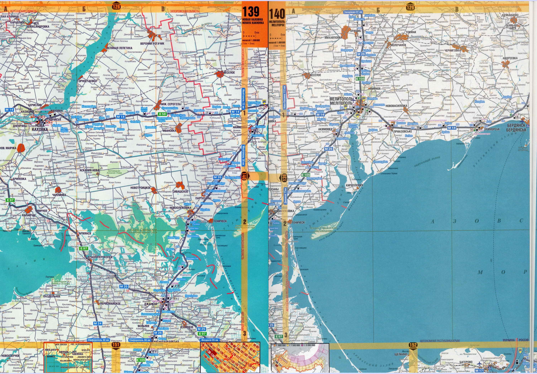 Карта побережья азовского моря карта