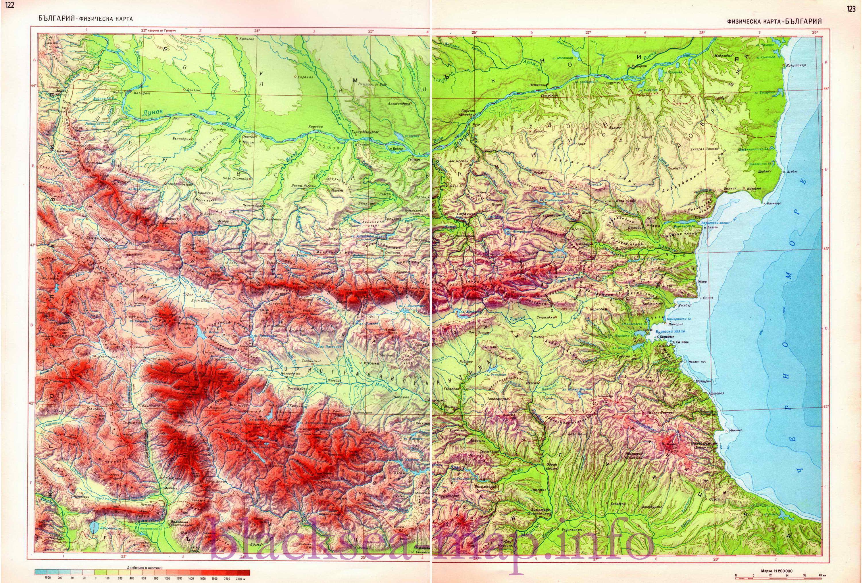 Физическая карта Болгарии. Большая подробная ...: http://blacksea-map.ru/geographical_map_black_sea_bulgaria_map576572_0_0.htm
