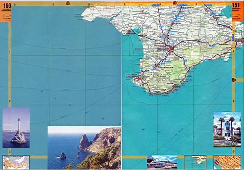 Карта побережья крыма крым